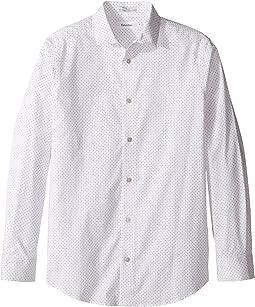 Long Sleeve Dot Print Shirt (Big Kids)