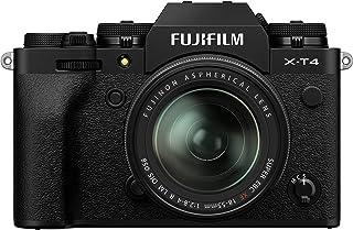 كاميرا رقمية غير عاكسة من فوجي فيلم X-T4، لون أسود مع عدسة فوجي نون XF18-55 مم F2.8-4 R LM