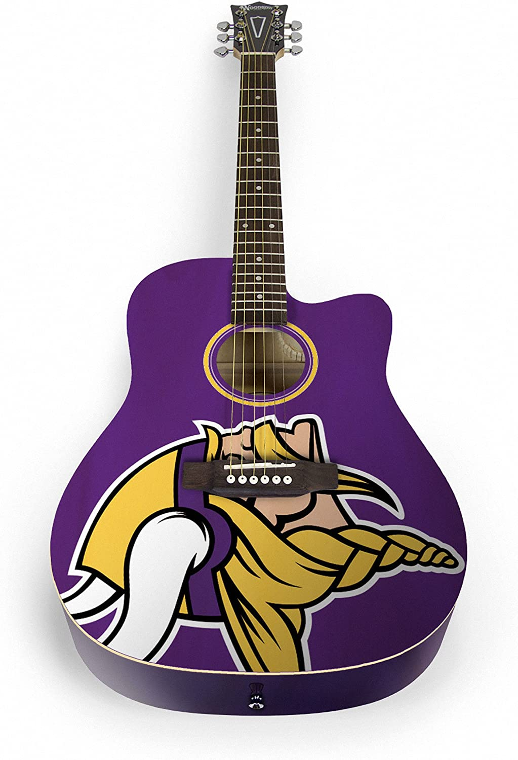 Woodrow Guitar by The Sports Vault NFL Minnesota Vikings Acoustic Guitar
