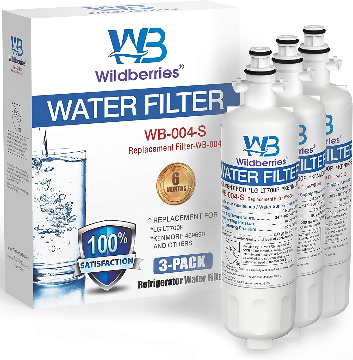 Wildberries LT700P Refrigerator Water Filter Ken for Gifts Chicago Mall Replacement