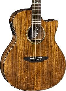 Luna High Tide Grand Concert Cutaway Acoustic/Electric Guitar, KOA