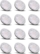 PAR36 LED 12Watt Light Bulb Outdoor Garden Landscape Lighting Low Voltage 12V AC DC AR111 G53 Landscaping Yard Entrance Path Spot IP65 Lamp 6000k Pure White 12 Volt Pool Accent Lights Value 12W 12Pack
