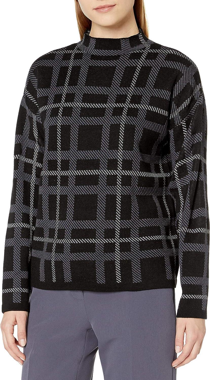 Anne Klein Women's Long Sleeve Mock Neck Sweater