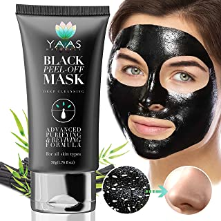 Sponsored Ad - YAAS Naturals Charcoal Face Mask - All Natural Activated Charcoal, Blackhead Remover, Clears Pores and Acne...