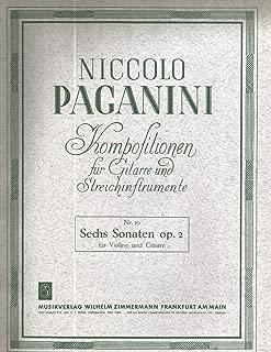 Niccolo Paganini Sechs Sonaten Op.2 for Violin & Guitar