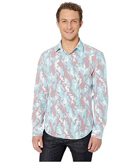 50af92de3 BUGATCHI Camo Long Sleeve Shaped Fit Button-Up Shirt at Zappos.com