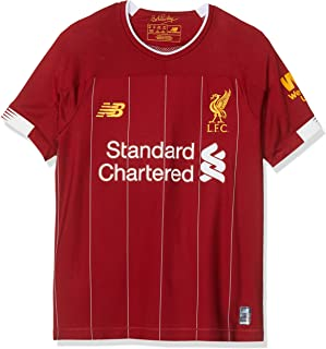 New Balance Liverpool 2019/20 Kids Youth Home Football Jersey Shirt Red