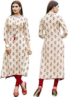 Rayon Long/Cowls Kurti Women Dress Printed Kurti for Women Formal & Party Wear 153-7