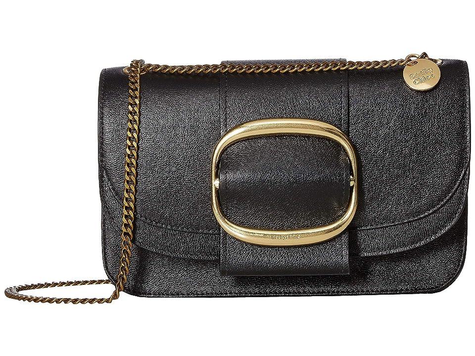 See by Chloe Hopper Medium Crossbody (Black) Cross Body Handbags
