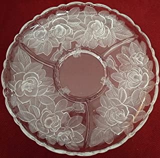 Studio Nova Winter Rose Chip & DIP Server Divided 14