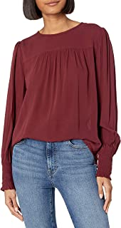 Lucky Brand Women's Smocked Cuff Top