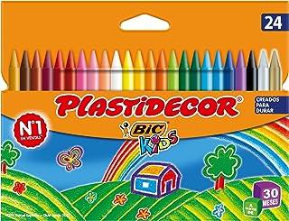 BIC Kids Plastidecor- Blíster de 24 unidades, ceras de colo