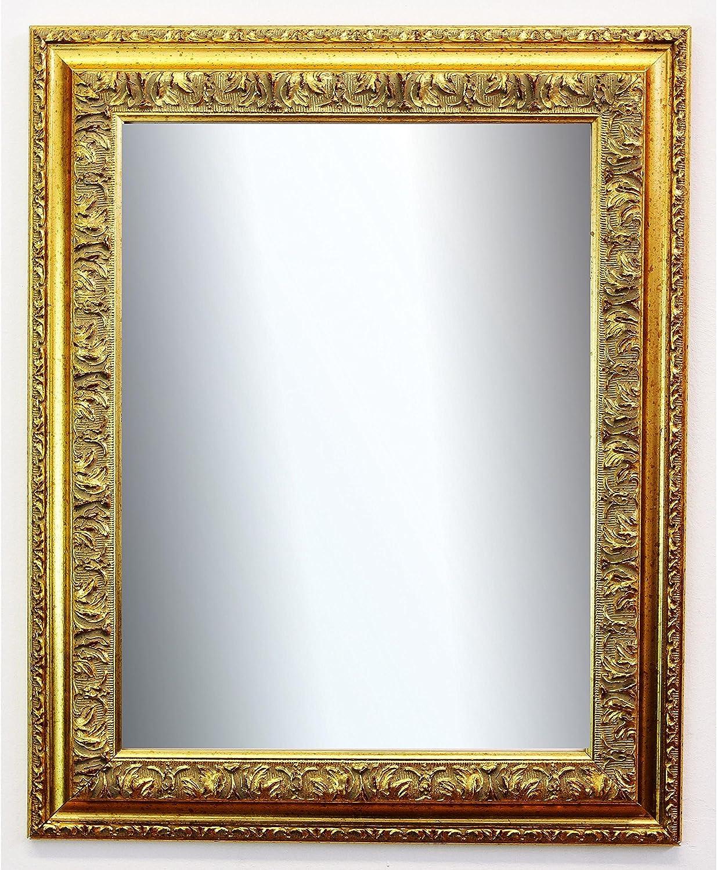 Online Galerie BinGold Spiegel Wandspiegel Badspiegel Flurspiegel Garderobenspiegel - über 200 Gren - Rom Gold 6,5 - Auenma des Spiegels 40 x 50 - Wunschmae auf Anfrage - Antik, Barock