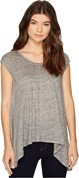 Kalliope Linen Shark Bite Tank Top
