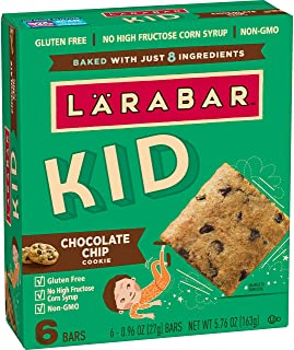 LÄRABAR Chocolate Chip Cookie, 5.76 oz, 6Count (Pack of 8)