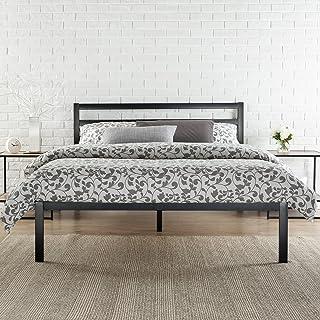 Zinus Cadre de lit en métal Studio moderne Mia 35,5 cm Plate-forme 1500H/ Support de matelas/ Pas besoin de sommier/ Souti...