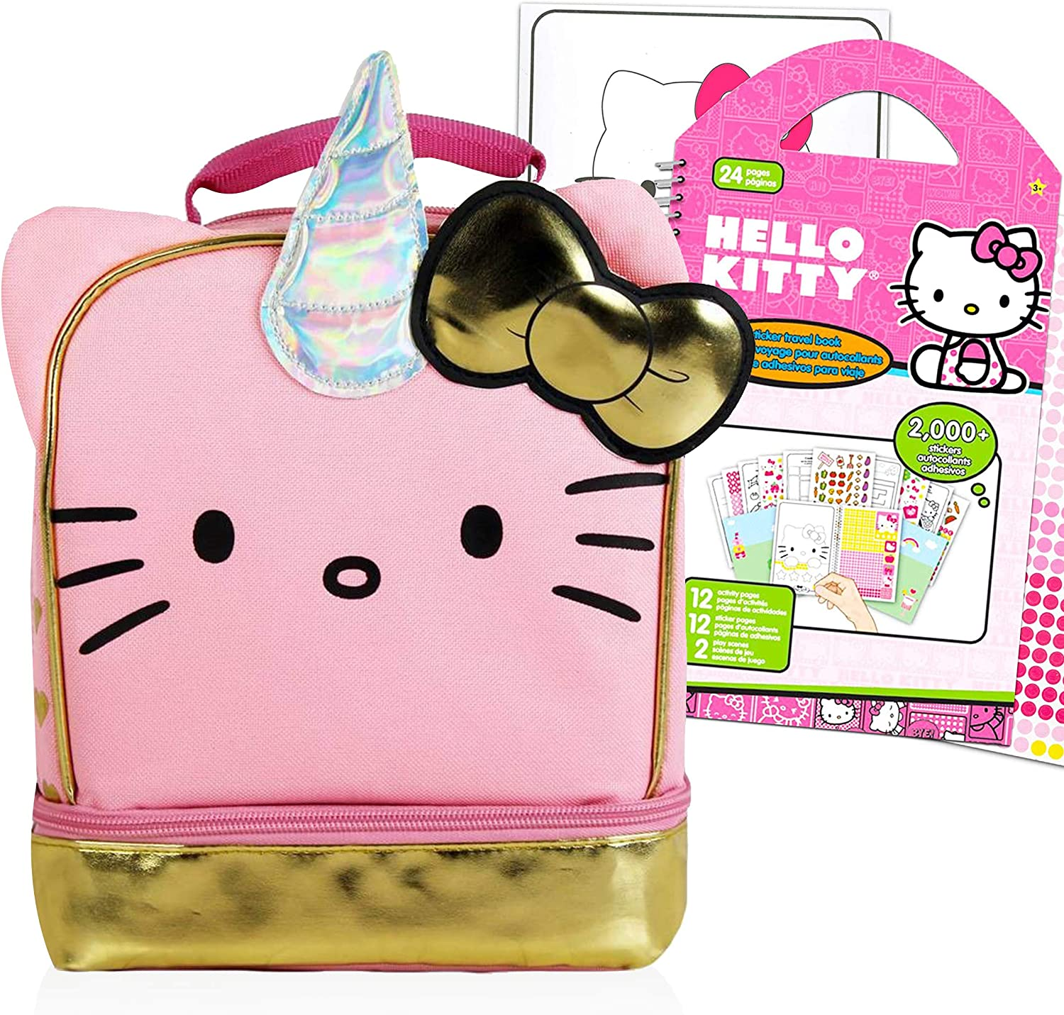 Hello Kitty Lunch Bag School And ~ Excellence L Travel Max 88% OFF Supplies