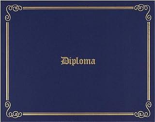 文凭夹 - 金箔印的证书夹,信纸大小*纸证书封,4 个角丝带,*蓝,29.21 x 22.86 厘米