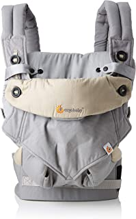 Ergobaby Bundle - 2 Items: Grey All Carry Position Award Winning 360 Baby Carrier and Easy Snug Infant Insert, Grey