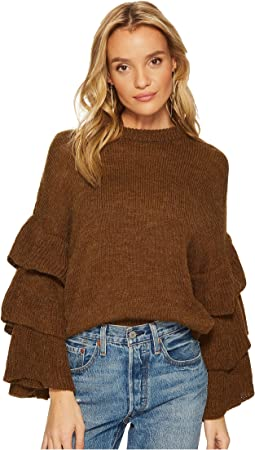 J.O.A. - Ruffle Sleeve Sweater