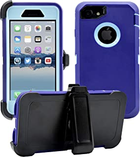 AlphaCell Cover compatible with iPhone 7/8 (NOT Plus) | 2-in-1 Screen Protector & Holster Case | Full Body Military Grade Protection with Carrying Belt Clip | Protective Drop-proof Shock-proof