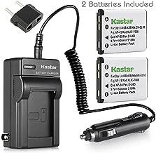 Kastar Charger + 2 Battery for Olympus Stylus 820 830 840 SW 725 SW 770 SW 790 SW 850 SW FE190 FE220 Digital Camera + car Plug