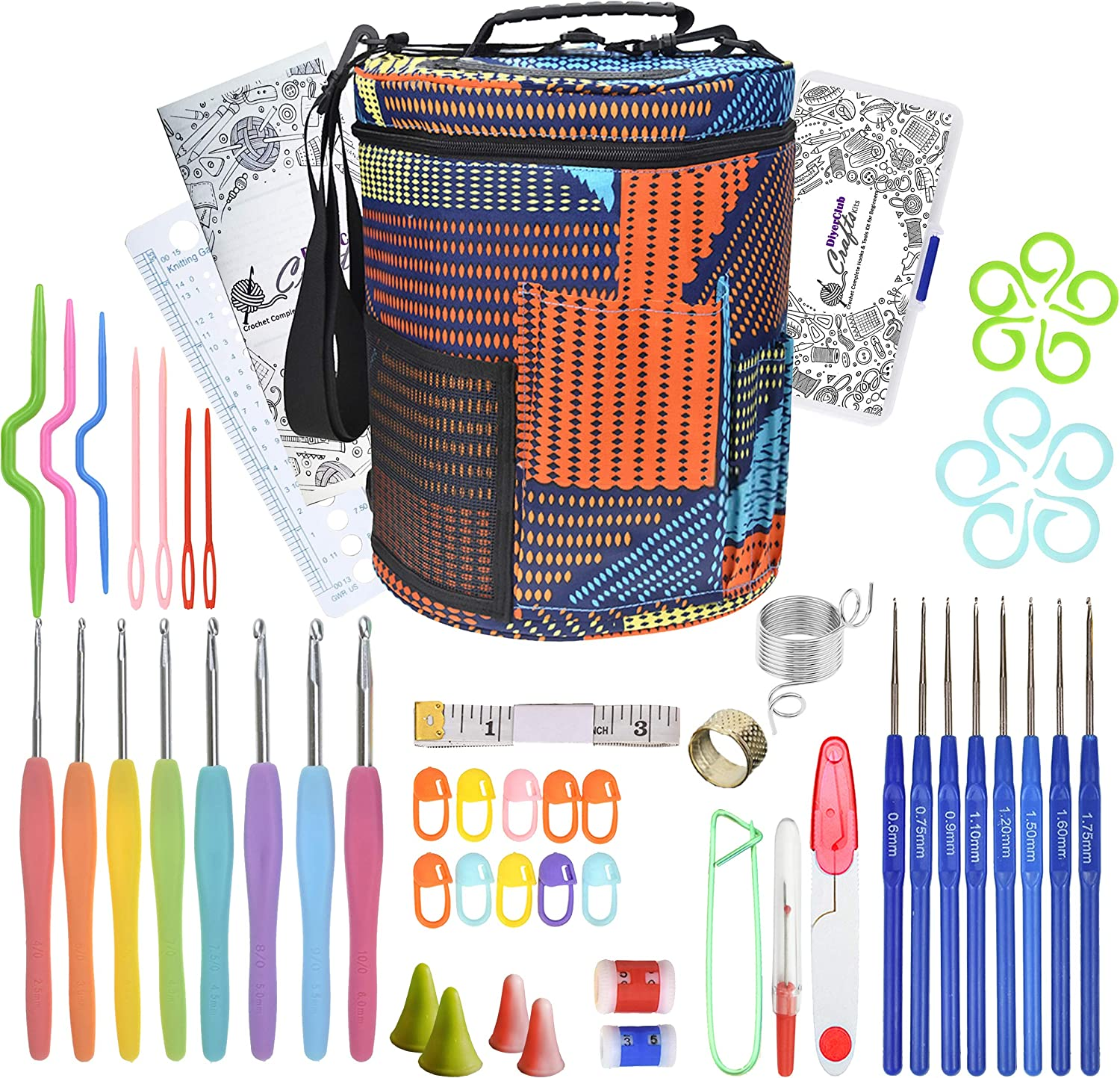 Crochet Hooks Set with Large Knitting - Opening large release sale Yarn Max 67% OFF Storage Bag Complet