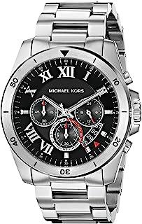 ساعة بريكن من مايكل كورس بمينا سوداء للرجال بسوار من الستانلس ستيل - MK8438