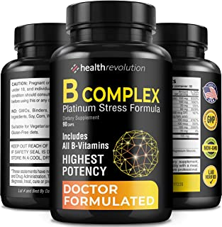 Super B Complex Vitamins - All B Vitamins Including B12, B1, B2, B3, B5, B6, B7, B9, Folic Acid - Vitamin B Complex Supple...