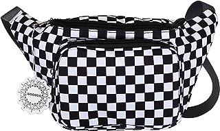 WODODO Black and White Checker Print Fanny Pack Pocket Festival Classic Styles Cellphone Bag