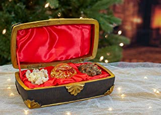 Real Gold Frankincense & Myrrh Regal Christmas Music Box - Plays Joy to The World and We Three Kings