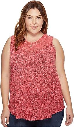 Plus Size Paisley Crochet Tank Top