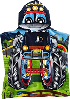 Northpoint Monster Truck Kids Hooded Beach Towel, 24 x 48 Inch