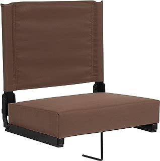 "Flash Furniture Grandstand 舒适座椅,带超软垫座 14""D x 18""W x 18""H XU-STA-BRN-GG"
