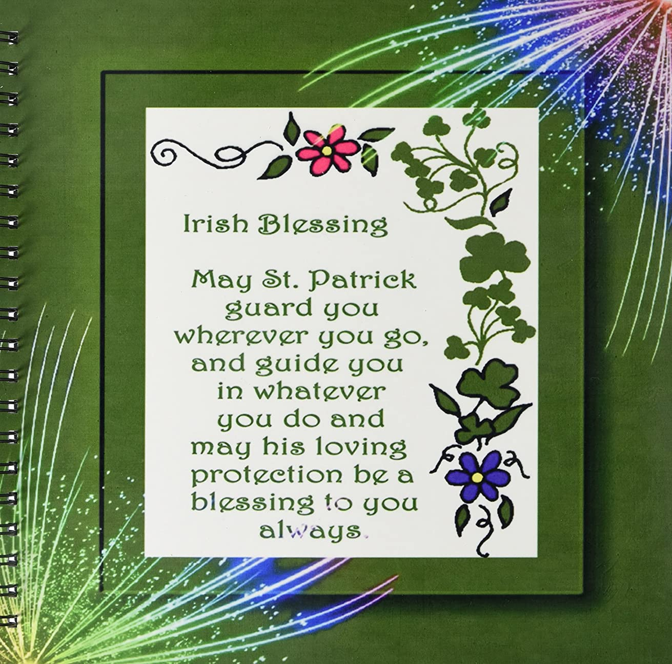 3dRose db_11697_2 Irish Blessings Memory Book, 12 by 12-Inch