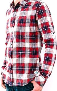 Blue Plaid Kaiback Kickback Mens Ultra-Slim Shirt