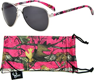 Hornz Pink Camouflage Polarized Sunglasses for Women Western Design