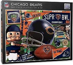 أحجية سلسلة دببة شيكاغو بدوري كرة القدم الأمريكية من يوذا فان - 500 قطعة، ألوان الفريق، مقاس كبير