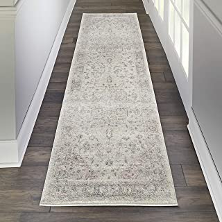 """Nourison TRA06 Tranquil Persian Vintage Ivory/Pink Area Rug Runner 2'3"""" X 7'3"""", 2' x 7'"""