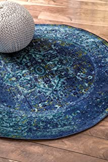 Best blue round rugs Reviews