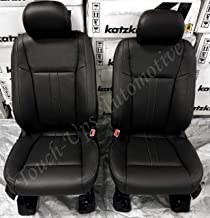 Katzkin Leather Seat Covers for 2019 Ford F-150 SuperCrew XLT Black Lariat Design