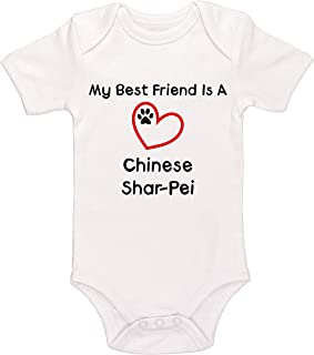 Kinacle My Best Friend is A Chinese Shar-Pei Baby Bodysuit