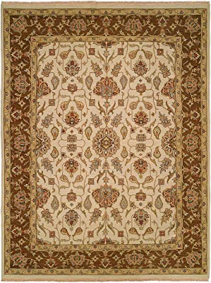 Kalaty Caspian Area Rug, 6' x 9', Ivory/Brown