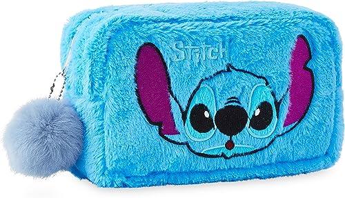 Disney Lilo Et Stitch Trousse De Toilette Originale, Trousse Maquillage En Fourrure Ultra Douce, Accessoire De Voyage...