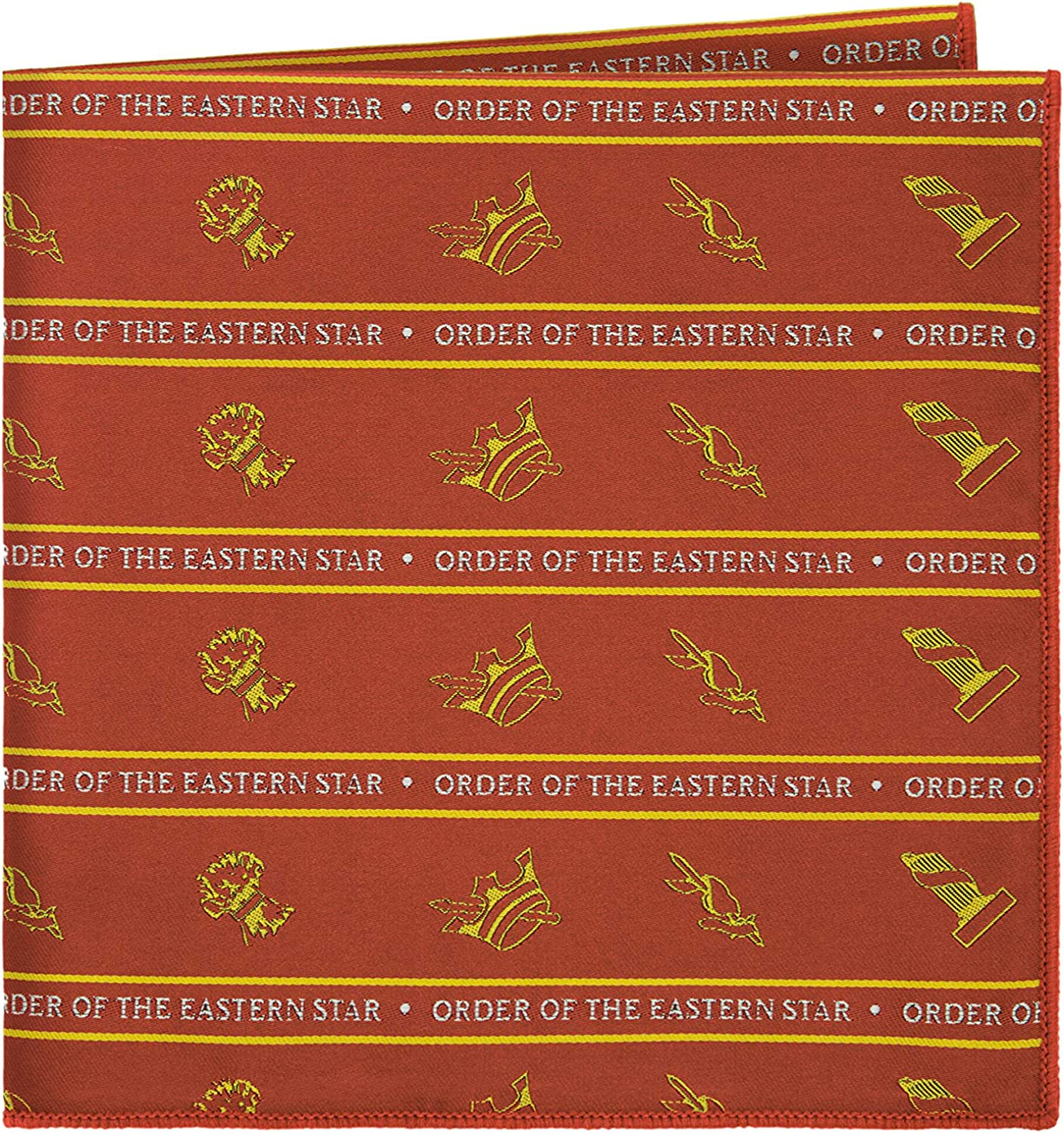 Order of the Eastern Star Pocket Square by Masonic Revival (Red)