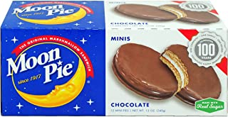MoonPie Mini Chocolate Marshmallow Sandwich - 1oz, 12Count Box (Pack of 12 Boxes, 144Count Total) | Small Bite Size Chocol...