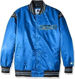 STARTER Adult Men The Enforcer Retro Satin Jacket LSY40240, Royal, 4X