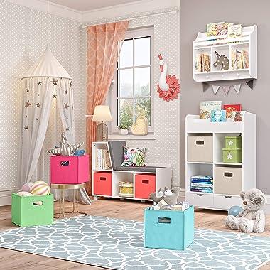 RiverRidge Book Nook Collection Kids Cubby Bookrack Storage Cabinet, White