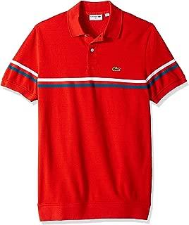 Lacoste Men's S/S Mix Stitch 2 Striped Polo Regular Fit