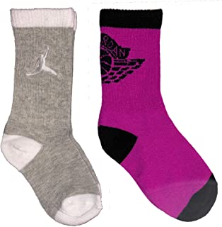 Kids Jordan 2-Pack High Crew Socks 10C-3Y (5-7 Sock Size)